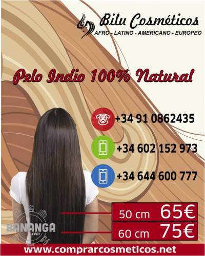 PELO INDIO MUY NATURAL A SOLO 65EUR